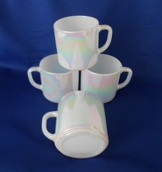 Federal Moonglow Mugs (4) by WeBGlass on Etsy