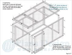 Free Chicken Run Plans! Step by step and very detailed. Completely free! #ChickenRun www.FreeHenHousePlans.net