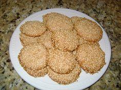 sesame cookies (Barazik)