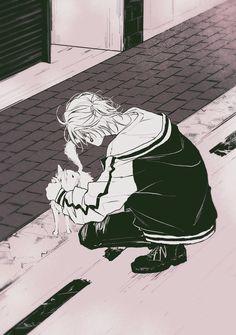 "𝓪𝓷𝓷 ▶︎CLB5 J11a on Twitter: ""ネコとでかいイヌ飼ってるサマトキサマ(一左馬)… "" Hot Anime Guys, Cute Anime Boy, Anime Demon, Anime Manga, Boy Illustration, Horimiya, Rap Battle, Dark Anime, Cute Anime Couples"