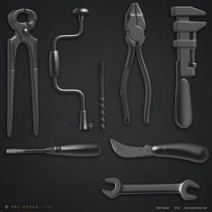 ArtStation - Tools for The Order Alec Moody 3ds Max Tutorials, The Sorcerer's Apprentice, Game Props, Toy Soldiers, Zbrush, Game Design, Hand Tools, Sculpting, Steampunk