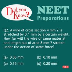 Do you know? #PhysicsProblems #NEET2018 #Physics #Questions #NEETpreparation #MTGBooks #PCMBToday Mtg Books, Physics Questions, Physics Problems, Science News, Did You Know, Study, This Or That Questions, Studying, Learning