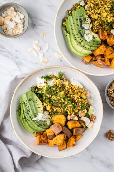 Hormool balancing Quinoa Bowl - vegan, gluten free, no refined sugar, pure vegetable - Heavenlynn Healthy Diet Recipes, Vegan Recipes, Clean Eating, Healthy Eating, Hormone Balancing, Vegan Gluten Free, Food Inspiration, Slow Cooker, Lunch