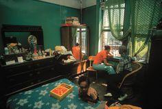 "africansouljah: "" Rene Burri USA. New York City. 5th Avenue. Inside home in Spanish Harlem. """