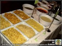 "Pasta Station ""Buffet"" with a variety of noodles, sauces, etc. - because the hubby loves pasta! ;)"
