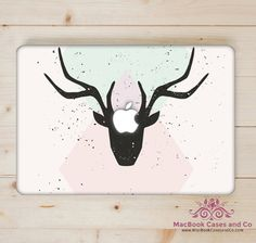 Hipster MacBook Case. MacBook Case. Top (printed) and Bottom (clear) Hard…