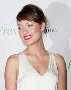 Olivia Wilde's sleek and attractive updo