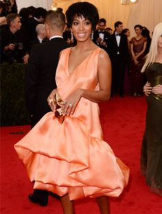 2014 Met Gala Red Carpet - Solange Knowles in Phillip Lim from Celebrity Red Carpet, Celebrity Look, Celeb Style, Met Gala Red Carpet, Solange Knowles, Costume Institute, Hot Outfits, Red Carpet Looks, Red Carpet Fashion