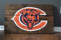 Chicago Bears NFL Wooden Painted Pallet Sign by ParkwoodPallets