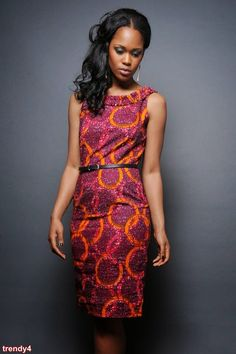 African print dress in Magenta Print /Sapelle African Dresses For Women, African Print Dresses, African Attire, African Wear, African Fashion Dresses, African Women, African Prints, African Style, African Fabric