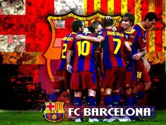 Barcelona Players Celebrating 2010/11 wallpaper in The FC Barcelona Club