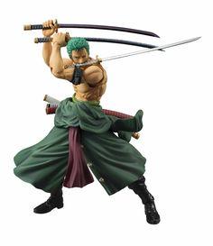One Piece: Roronoa Zoro Variable Action Heroes Action Figure (New World/Sailing Again) - AnimePoko.com