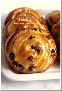 Pain Aux Raisin Recipe, Bread Recipes, Cake Recipes, Breakfast Crepes, Good Morning Breakfast, Croissants, Bread Cake, Bread And Pastries, Gluten Free Cakes