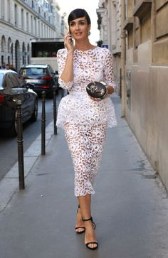 lace white dress / Paz Vega in Ralph & Russo