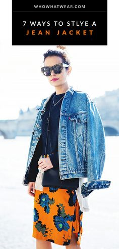 Chic ways to wear a jean jacket // #denim #style