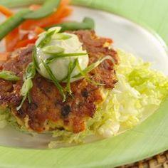 Wasabi Salmon Burgers - EatingWell.com