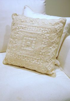 VTG Bargello Needlepoint Pillow by 5thstreetbazaar on Etsy, $42.00