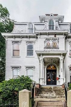 1900 Second Empire For Sale In Petersburg Virginia — Captivating Houses Victorian Style Homes, Edwardian House, Fancy Houses, Old Houses, Victorian Buildings, Victorian Houses, Victorian Era, Petersburg Virginia, Old Mansions