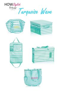 Turquoise Wave -- Spring 2015 Thirty-One.  Created by HOWStylish, independent consultant.
