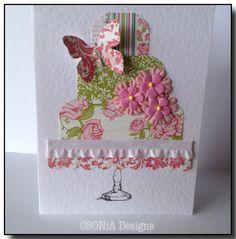 Happy Birthday to you......pretty embellished handmade card by OSONiA Designs