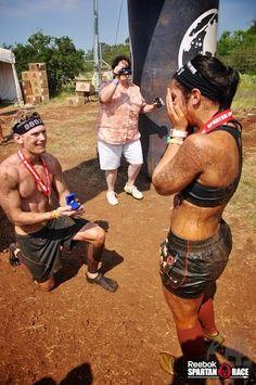 Spartan Sprint Marriage Proposal