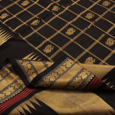 Another black silk saree that I love!