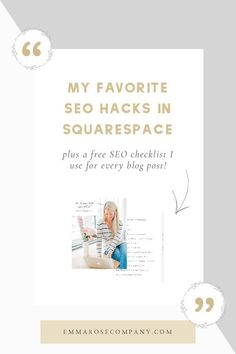 My Favorite SEO Hacks in Squarespace Website Design Inspiration, Design Ideas, Wordpress, Web Design, Seo Analysis, Website Analysis, Seo Specialist, Seo For Beginners, Seo Marketing