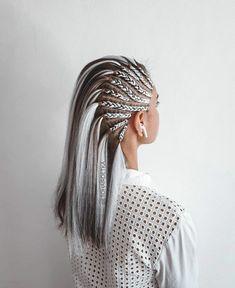 Girl Hairstyles, Braided Hairstyles, Curly Hair Styles, Natural Hair Styles, Viking Hair, Aesthetic Hair, Braids For Long Hair, Crazy Hair, Hair Art