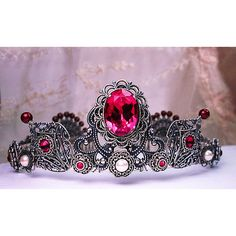 Custom Wedding Tiara, Tudor, Medieval, Handcrafted Bridal Headpiece,... ($360) ❤ liked on Polyvore