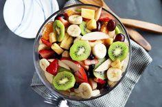 Summer Fruit Salad Recipe for Your Next Picnic | Foodal Chicken Taco Recipes, Healthy Chicken, Chicken Salad, Roasted Tomatillo, Shredded Chicken Tacos, Summer Salads With Fruit, Fruit Salad Recipes, Vegan Thanksgiving, My Best Recipe