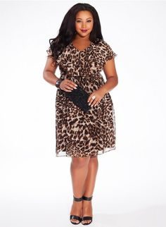 7342ea47fd1 Maybe bridesmaids dresses should be leopard Love this dress Plus Size  Evening Gown