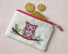 Owl purse: One of the amazing gifts to stitch in our Christmas Collection! Flip your October 241 issue to find our festive deluxe section: www.crossstitchcollection.com/find-us