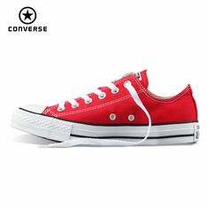 Original Converse all star canvas shoes women man unisex sneakers low  classic women Skateboarding Shoes red 4bbf11e10c