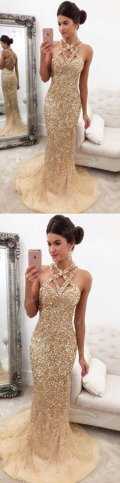 Sparkle Rhinestone Mermaid Prom Dresses, Gorgeous Prom Dresses, Popular Prom Dresses, PD0351 #promdresses
