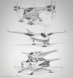 ArtStation - CGMA - Sci fi ships sketches, Michal Kus