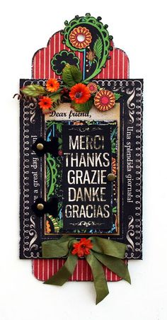 Typography tag by Maggi Harding with a swinging door where you can include a wonderful message #graphic45 #tags