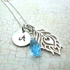 peacock necklace sparkle