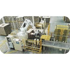 Robot Palletizer  Auto mode: Importing the whole necessary information from printing machine automatically  Auto calculation for the maximum stack  Pre-loading the layer format on display  Auto alignment system  Auto-counter and Auto-print storage bill.   http://klcartonmachinery.com/robot-palletizer