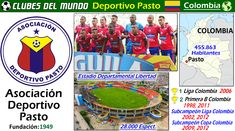 La Asociación Deportivo Pasto es un club colombiano del sur del Pais. En su historial, ha ganado en una ocasión, en 2006 la Liga Colombiana. Ha sido tambien dos veces Subcampeón de la Liga Colombiana, en 2002 y 2012. En cuanto a la Copa Colombiana, ha llegado dos veces a la final, en 2009 y 2012. Internacionalmente, lo mas lejos que llego, fue a Octavos de Final en 2013 en la Copa Sudamericana.