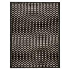 Durres Rectangle 8'X11' Outdoor Patio Rug - Black / Beige - Safavieh, Black/Beige