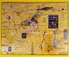 The studio wall drawing Supercollider is inspired by the goings on at CERN; mixed media on watercolour paper × 481 cm). Carl Sagan, Big Draw, Wall Drawing, Science Art, Art Online, Watercolor Paper, Diaries, Discovery, Vintage World Maps