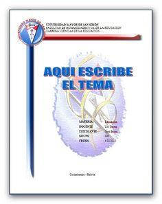 TRABAJOS UNIVERSITARIOS UMSS: CARATULAS UMSS EDUCACION 3                                                                                                                                                                                 Más