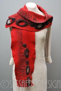 """Red"" Fiber art by Claudia Burkhardt"