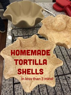 Add a touch of flair to any meal with your own tortilla shells! Use the #pamperedchef Tortilla Shell Baker in the microwave for about 2 minutes and you have perfectly shaped tortilla bowls!