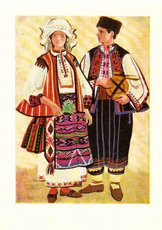Vintage Bulgarian Folk Costumes Postcard by RussianSoulVintage