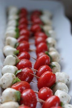 Simple caprese appetizer. Perfect for Christmas guests!