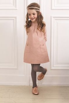 simple dress but in a beautiful dusky pink and teamed with a girly pair of shoes would make a darling party outfit
