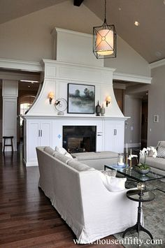 Isabella & Max Rooms: Street of Dreams Portland Style - House 6, two sided fireplace