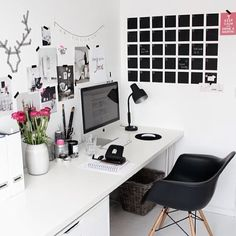 Simple Black And White Study E Usq Studyninja Studycorner Office Worke