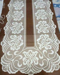 ru / Foto n. Crochet Dollies, Crochet Lace Edging, Crochet Doily Patterns, Crochet Art, Crochet Stitches, Embroidery Patterns, Crochet Table Runner, Crochet Tablecloth, Crochet Storage